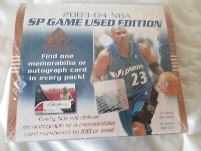 Factory Seal 2003-04 Nba Sp Game Used Edition Hobby Box 3 Cards/pack 6 Packs/box