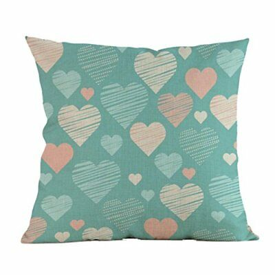 Linen Cushion Cover Slow Pillow Case, Funic Simple Love Paint Throw Pillow Home