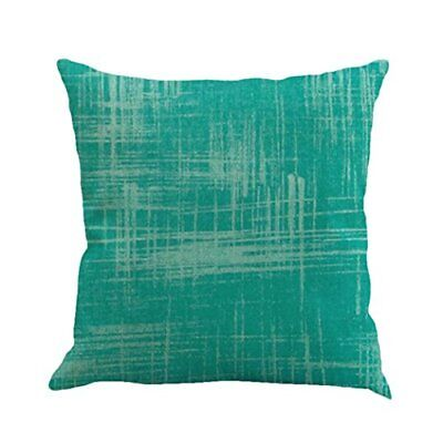 Solid Color Linen Cushion Cover, Sofa Funic Slow Pillow Case Home Bed Decoration