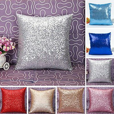 Dds5391 Cushion Cover Glitter Sequins Cushion Throw Pillow Case Home Waist Decor
