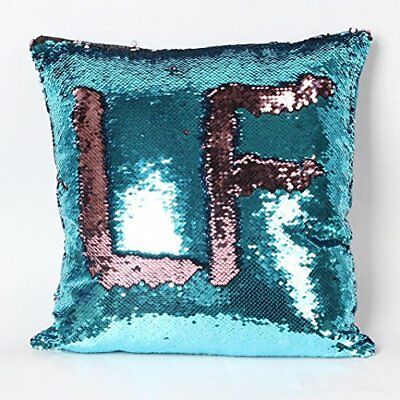 Challyhope Double Color Glitter Sequins Throw Pillow Case Cafe Home Decor Party