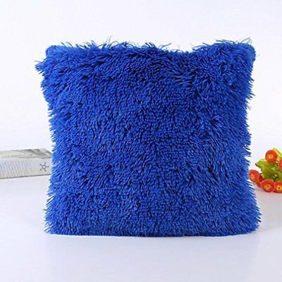 Funic Pillow Case Sofa Waist Throw Cushion Cover Home Car Decor (blue)