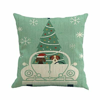 Christmas Pillow Cover, Funic Christmas Print Dyeing Sofa Bed Home Decoration Sl