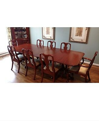 Dining Table Set By Henkel Harris (wild Black Cherry Table And 8 Chairs)