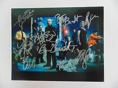 """""""breaking Bad"""" Cast Signed 10x8 Color Photo Todd Mueller Coa"""