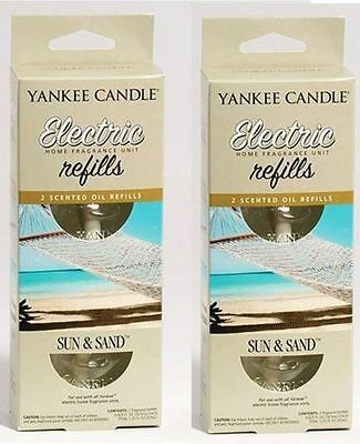 2 Yankee Candle Home Sun And Sand Beach Scent Plug In Fragrance Electric Refills