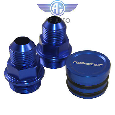 Blue For B16 B18c Catch Can M28 To 10an Rear Block Breather Fittings And Plug