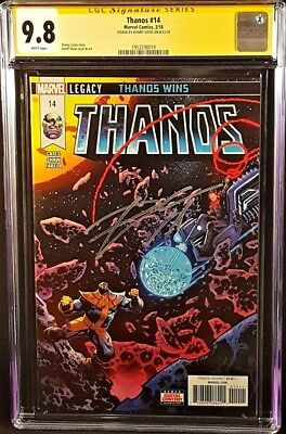 Thanos #14 Cgc Ss 9.8 Donny Cates Cosmic Ghost Rider Endgame Silver Surfer Black