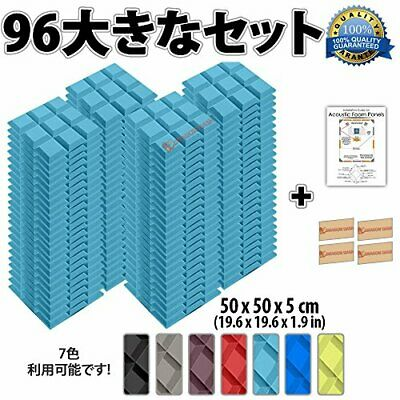 Super Dash New 96 Pieces 500 X 500 X 50 Mm Bevel Grid Acoustic Foam Sound Absorb