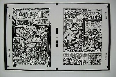 Original Production Art Fantastic Four #8 Cover & Splash, Jack Kirby Art