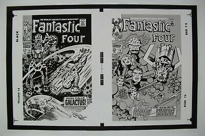 Original Production Art Fantastic Four #74 & 75 Covers, Jack Kirby Art