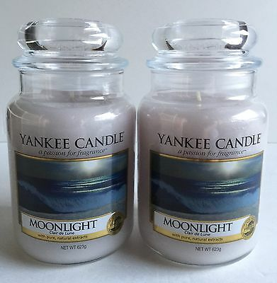 Yankee Candle Moonlight Clair De Lune Gray Soy Wax Scented Candles 2 Count Set