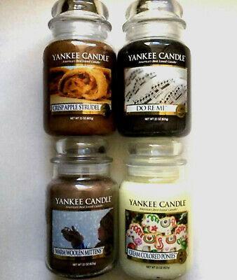 4 Yankee Candle My Favorite Things* Do Re Mi* Ponies* Mittens*apple Strudel