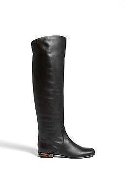 Gucci Lucille Iconic Otk Bamboo Heel Tall Flat Boots Eu 38.5 39.5 I Love Shoes