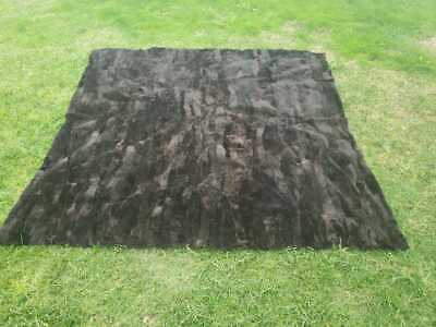 New Luxury Genuine Blanket Real Sheared Otter Fur Throw Spread. Otter Rug.