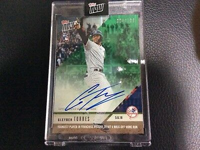 2018 Topps Now Gleyber Torres /199 Rc Auto Walk Off Home Run Autograph Ny Yankee