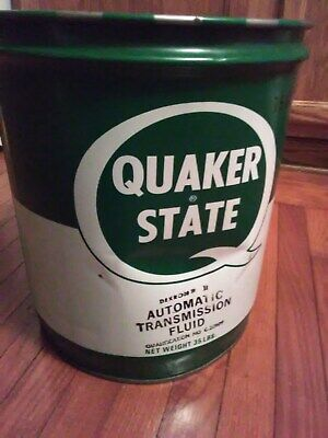 Older 5 Gallon Quaker State Automatic Tasmission Fluid Oil City Pa. Can