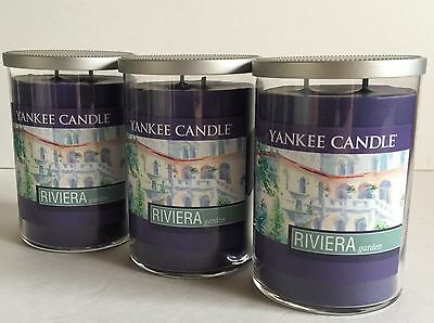 Yankee Candle Riviera Garden Purple Soy Wax Scented Manly Candles 3 Count