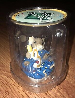 New Enesco Charming Tails Age 3 Happy Birthday Mouse Cupcake Candle Figure Nip