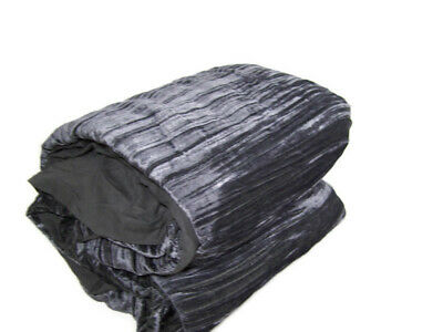 West Elm Charcoal Gray Shinning Crinkle Luster Velvet Full Queen Duvet Cover New