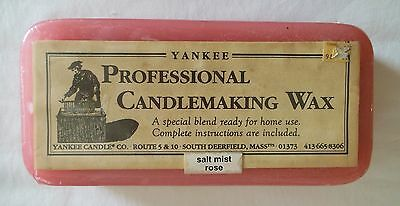 Yankee Candle Wax Scented Block Of Candle Making Wax 1 Lb. 6 Oz. Salt Mist Rose