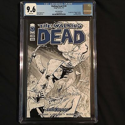 The Walking Dead #100 Comixology Exclusive B@w Variant Cover Michonne Cgc 9.6