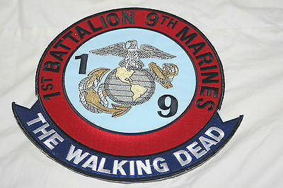 1st Battalion 9th Marines Marine Corps Jacket Patch The Walking Dead