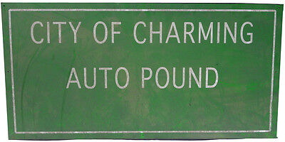 "Sons Of Anarchy Original ""city Of Charming Auto Pound"" Sign"