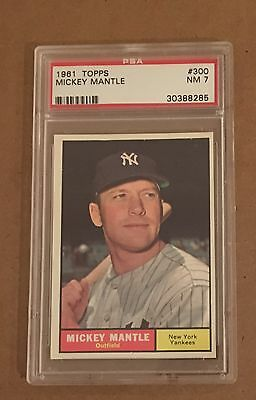 1961 Topps Set Break #300 Mickey Mantle Psa 7 Nm Ny Yankee Hofer Free Shipping