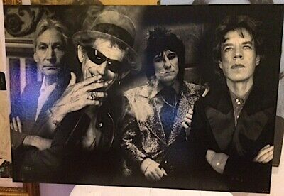 Rolling Stones Giclée Print On Canvas Extremely Beautiful 60x40 Inch, With Coa