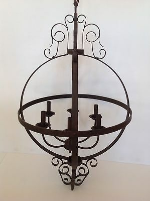 Pottery Barn Fulton Iron Chandelier Sold Out At Pb Rare Msrp $449.00