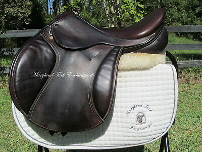 "17.5/18"" Trilogy Talisman Close Contact Jumping Saddle- Wool Flocked! Rare Find!"