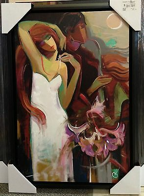 "Irene Sheri ""waltz Of Flowers"" Geclee On Canvas Limited Edition Signed Framed"