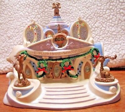 Dept 56 The How The Grinch Stole Christmas Town Hall Artist Sample Look!