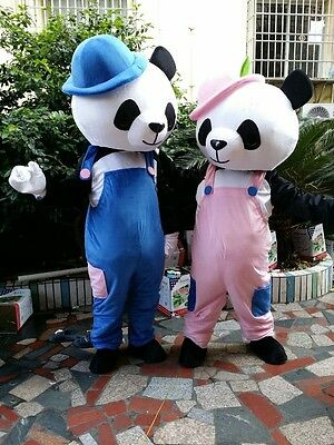 2018 Hot Cute Panda Mascot Cartoon Doll Walking Costumes Stage Props Adult Dress