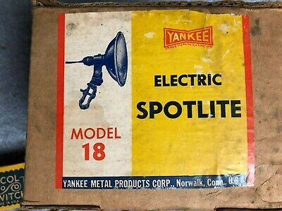Vintage Nos Yankee Elctric Bicycle Spot Head Lite Set With Original Box