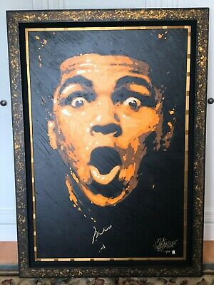 Very Rare Muhammad Ali Autographed Giclee Painting! + Artist Signed (5 Of 95)
