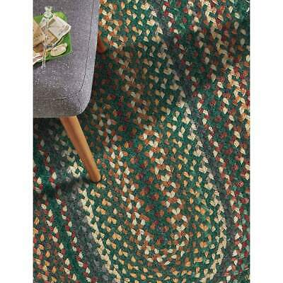 Capel Rugs Sherwood Forest Wool Braided Country Area Throw Rug Hunter Green #275