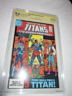 Tales Of The Teen Titans 44 1984 Cbcs 9.2 1st Nightwing Marvel Wolfman Signed