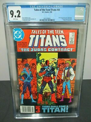 Tales Of The Teen Titans 44 Cgc 9.2 1st Nightwing, Origin Of Deathstroke + #45