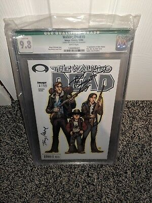 Walking Dead 3 9.8 Signed By Kirkman/moore 1st Carol, Dale And Andrea