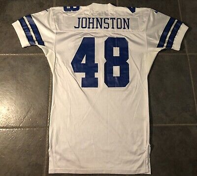Dallas Cowboys Daryl Johnston Game Issued 1997 Nike Jersey Sz 48 Long Sb Champ