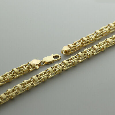 "9 Carat Gold X-long Cage Chain - 34"" - 7.5mm - 44g -hallmark Rrp £2230{i12_34}"