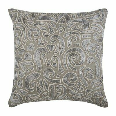 Taupe Decorative Throw Pillow Covers 18x18 Inch, Cotton Linen- Taupe Carnival