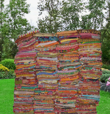 1 Pieces Mix Of Indian Tribal Kantha Quilts Vintage Cotton Bed Cover Throw