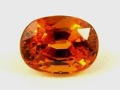 Very Hard To Find Clean Namibian Mandarin Garnet 2.74ct With Amazing Color