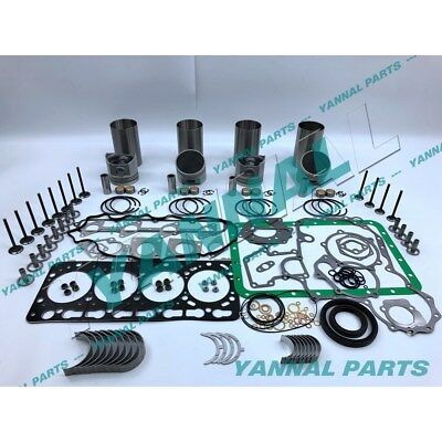 New Kubota V3300 V3300-idi Overhaul Kit With Valves ( 91.0mm )
