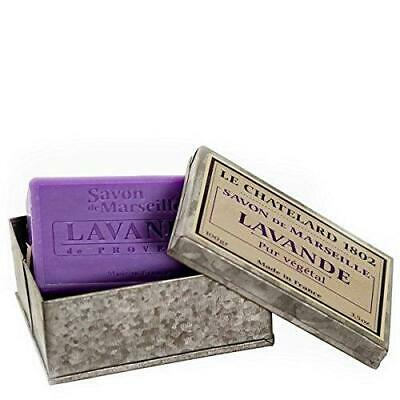 (d) Le Chatelard French Vintage Hand Made Soap In Metal Box (lavender)