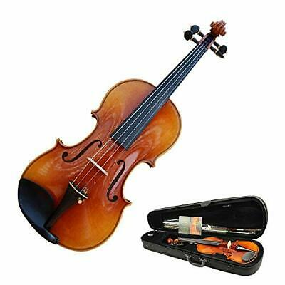 Violin Advanced Professional Acoustic Violin With Hard Case High Gloss Finish Na
