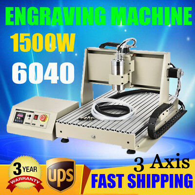 3axis Cnc 6040 Router Engraver Engraving Drilling Carving Machine 3d Print 1.5kw